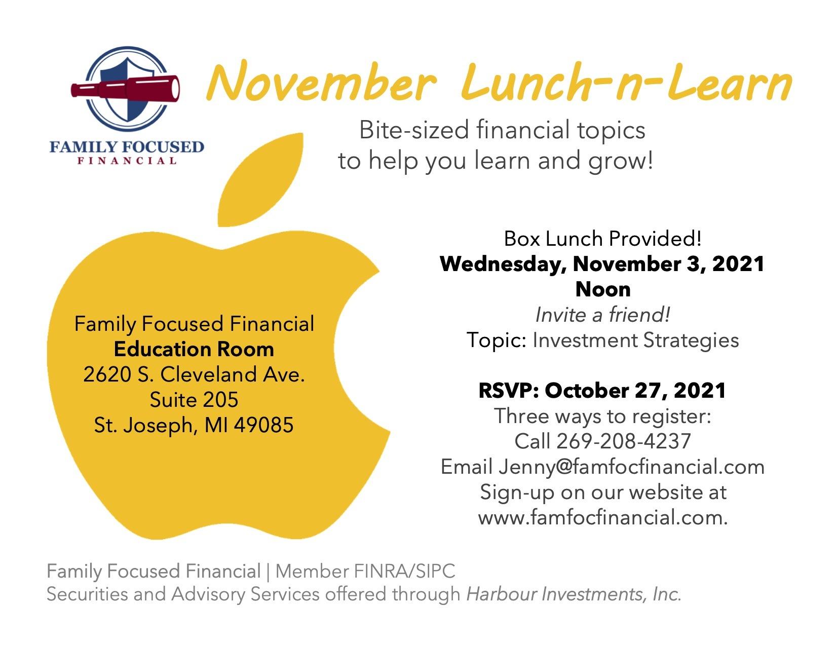 Nov 2021 Lunch Learn Invite