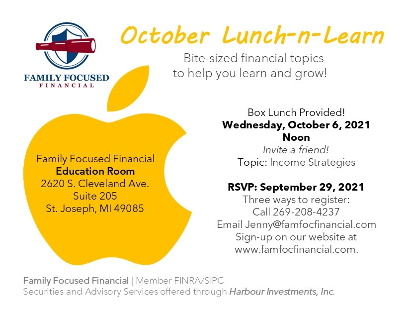 Oct 2021 Lunch Learn Invite